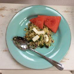 Couscous met watermeloen