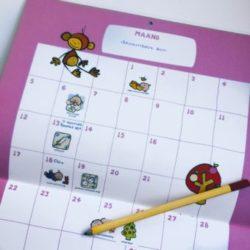 Ideaal kraamcadeau – de babykalender met stickers