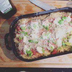 Kip parmigiana met aubergine