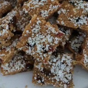 Vruchtenkoekjes van biscuit